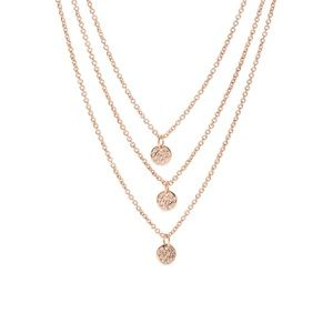Gorjana Rose Gold plated 3 disc layered necklace